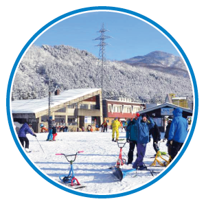 スノースクート滑走可能!立山山麓 極楽坂スキー場へリンク